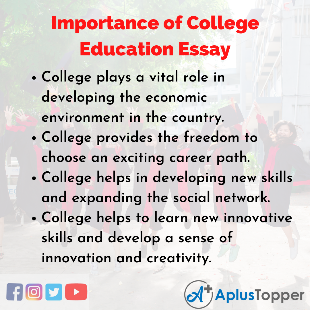 Essay about Importance of College Education