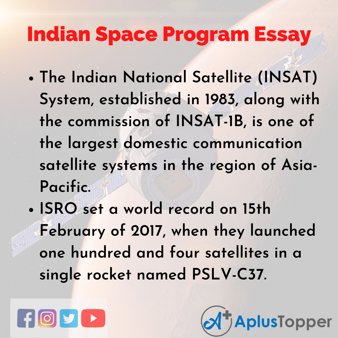 Essay about Indian Space Program