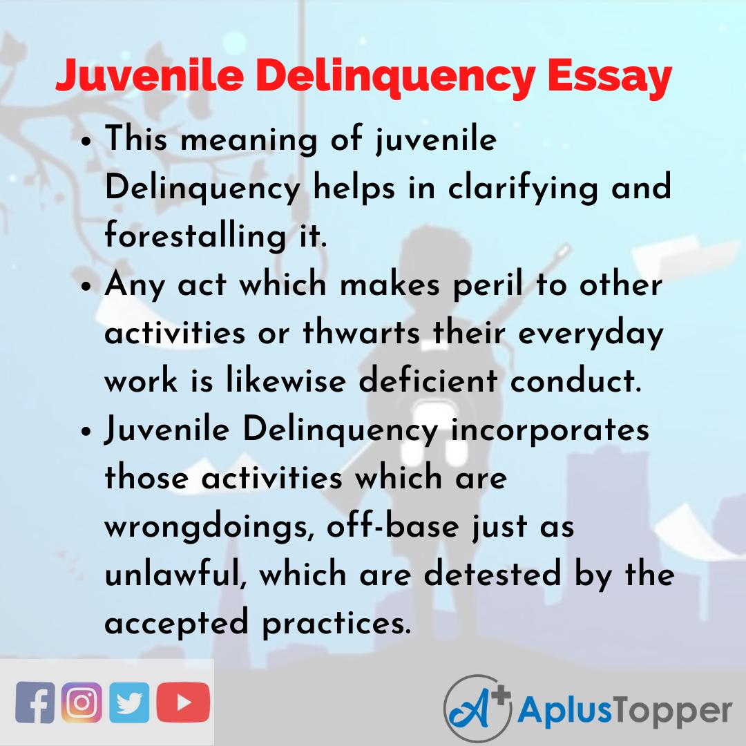 Essay about Juvenile Delinquency