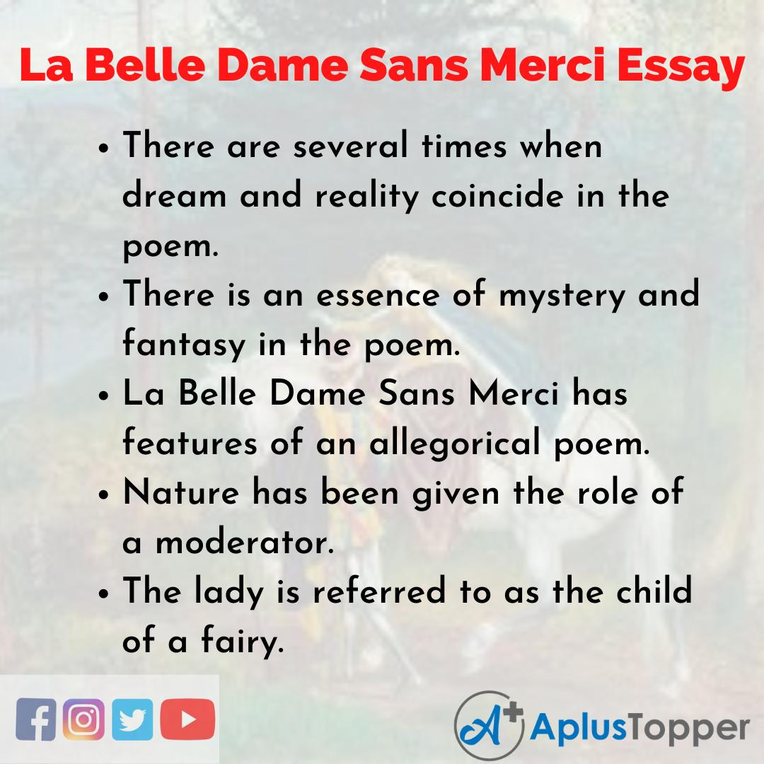Essay about La Belle Dame Sans Merci