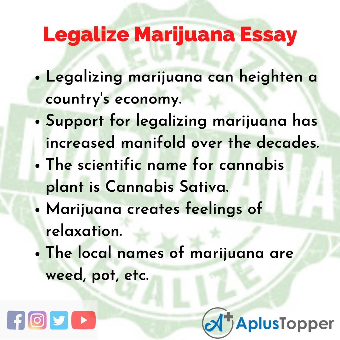 Essay about Legalize Marijuana
