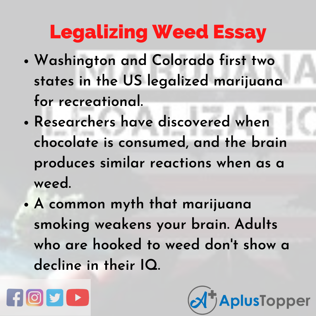 Essay about Legalizing Weed