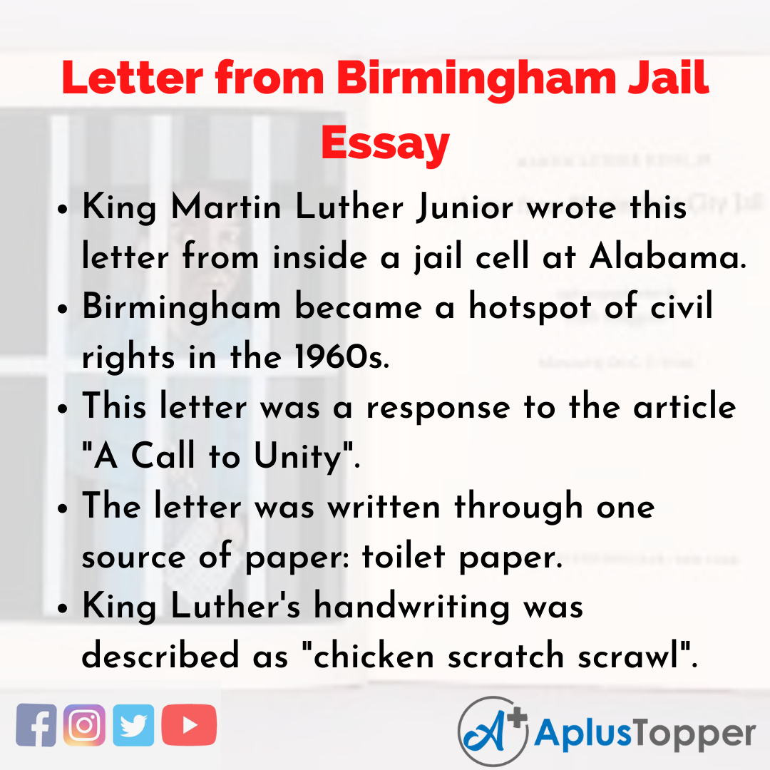 Essay about Letter from Birmingham Jail