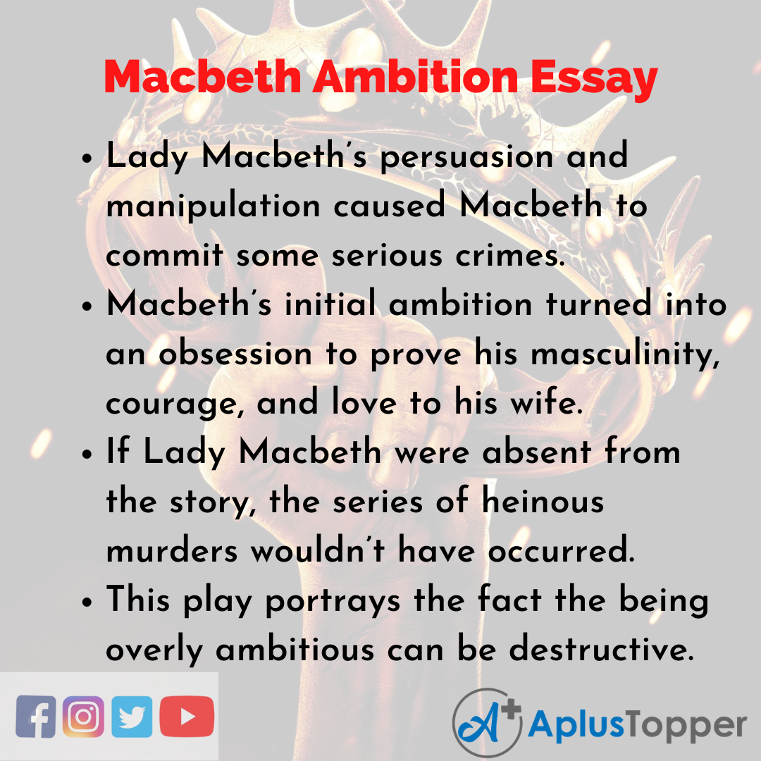 Essay about Macbeth Ambition