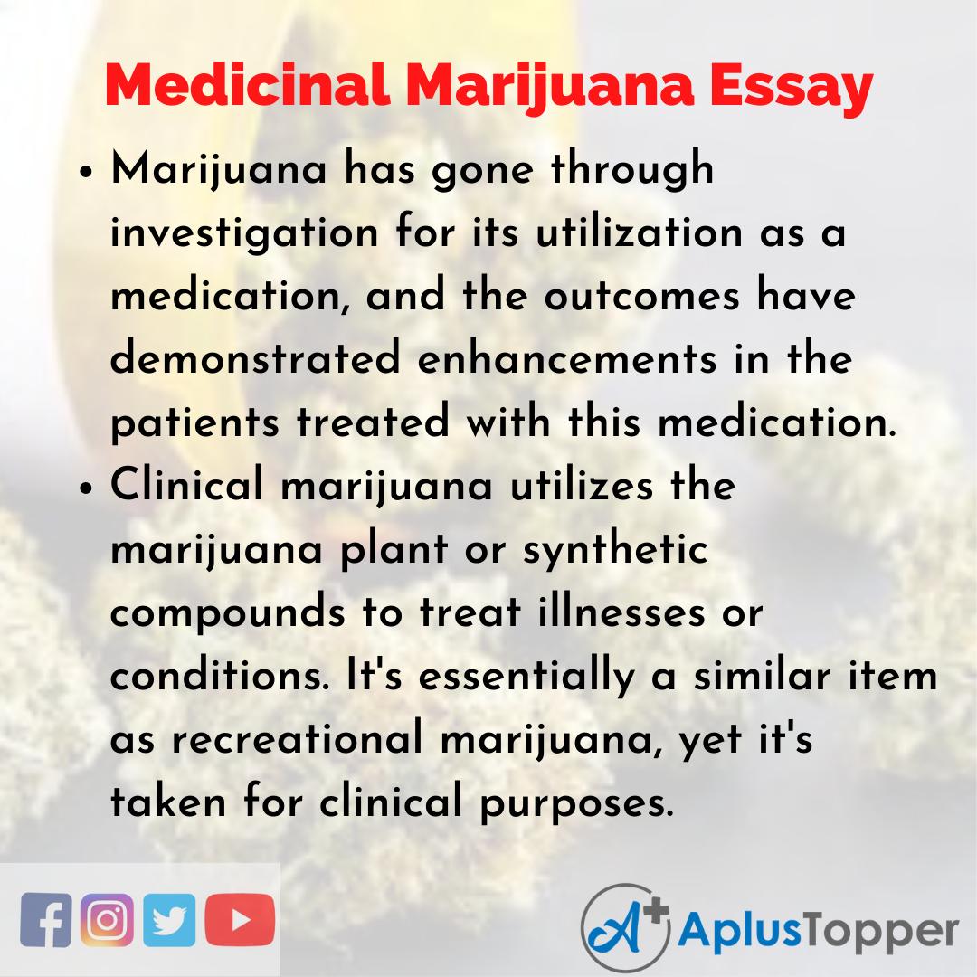 Essay about Medicinal Marijuana