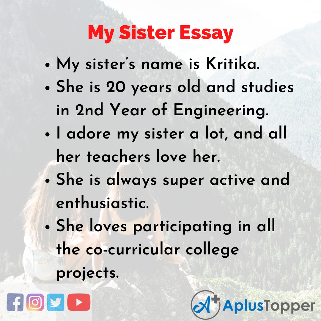 Essay about My Sister