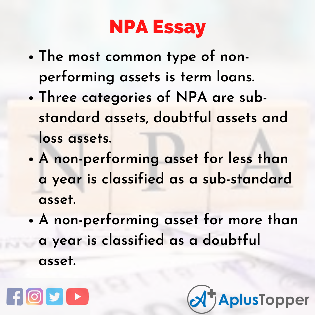 Essay about NPA