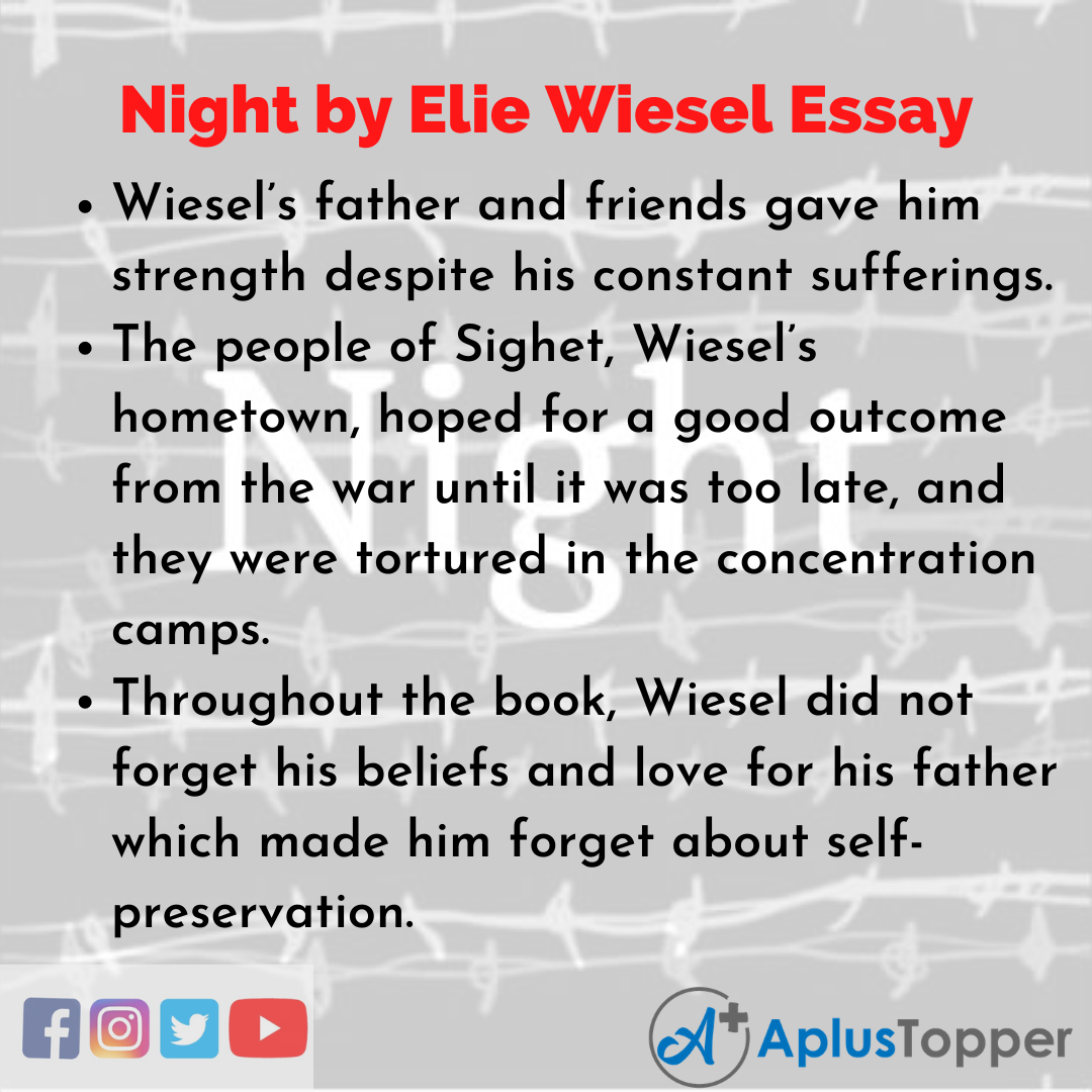 Essay about Night by Elie Wiesel
