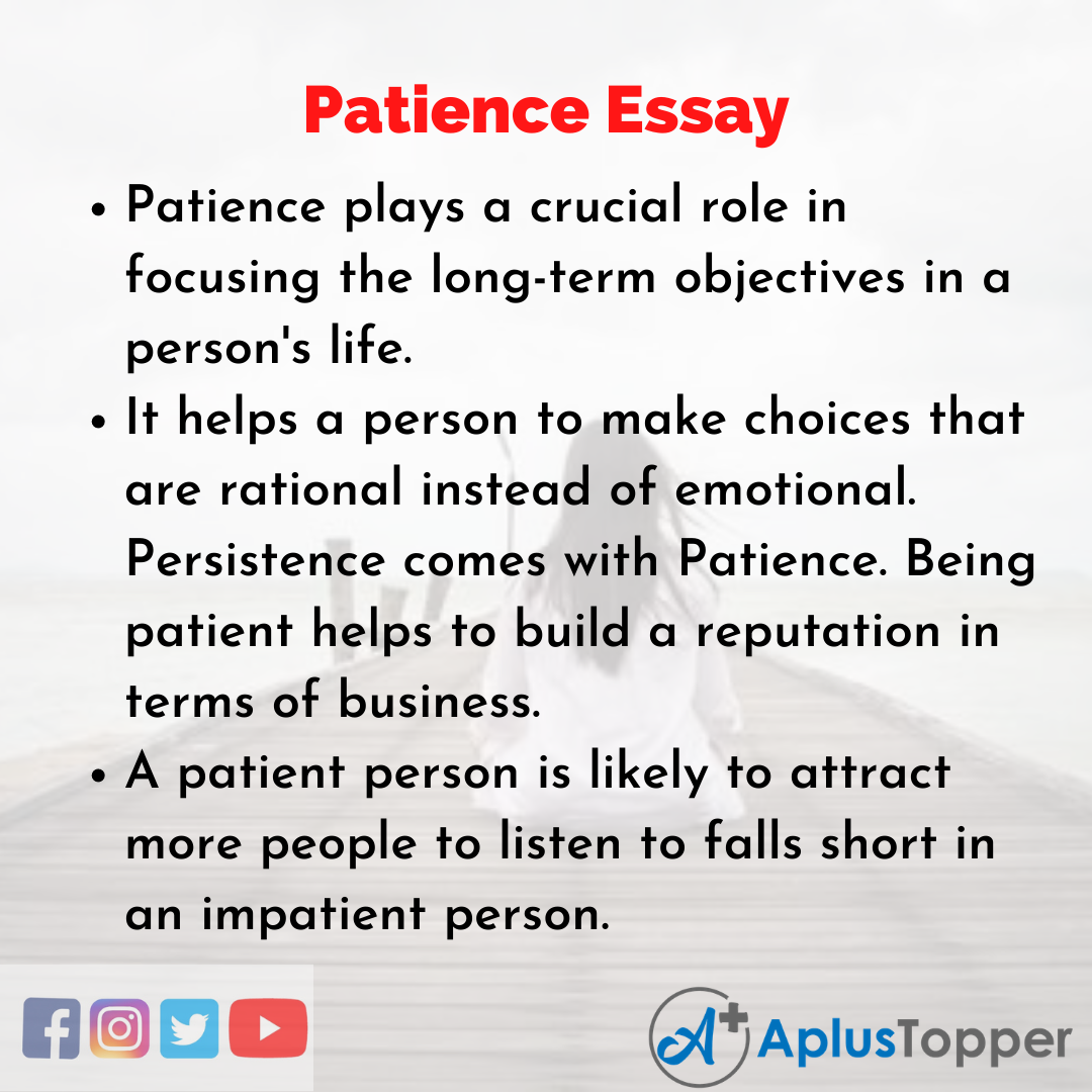 Essay about Patience