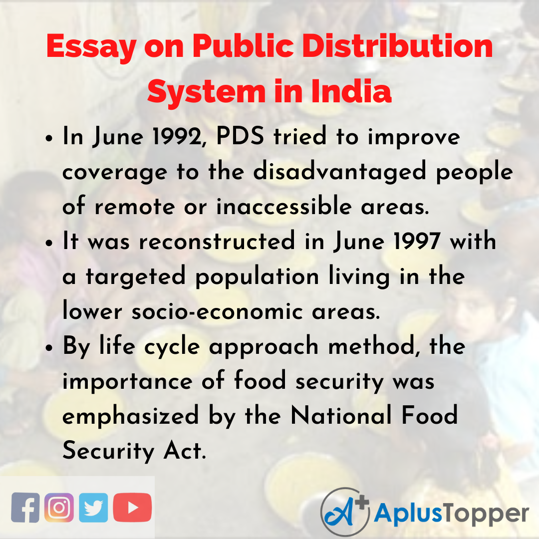 Essay about Public Distribution System in India
