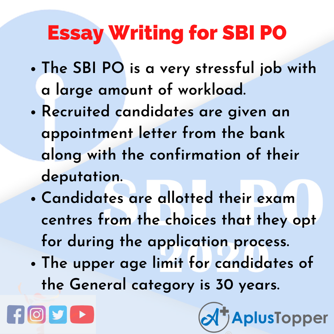 Essay about SBI PO