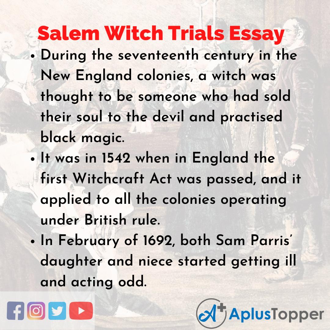 Essay about Salem Witch Trials