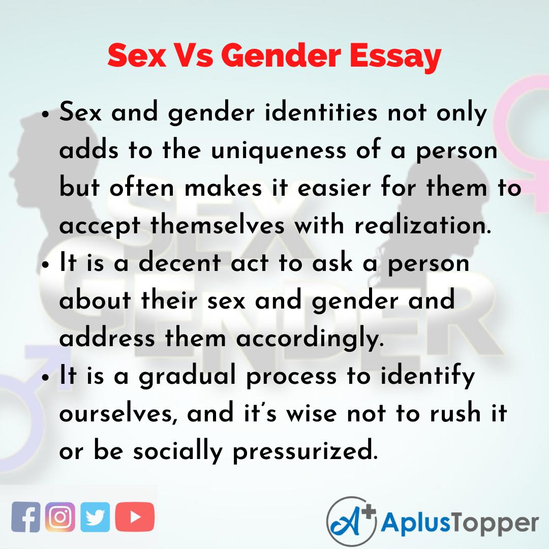 Essay about Sex Vs Gender
