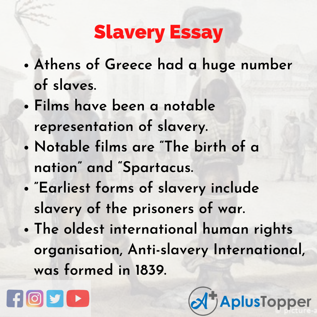 Essay about Slavery