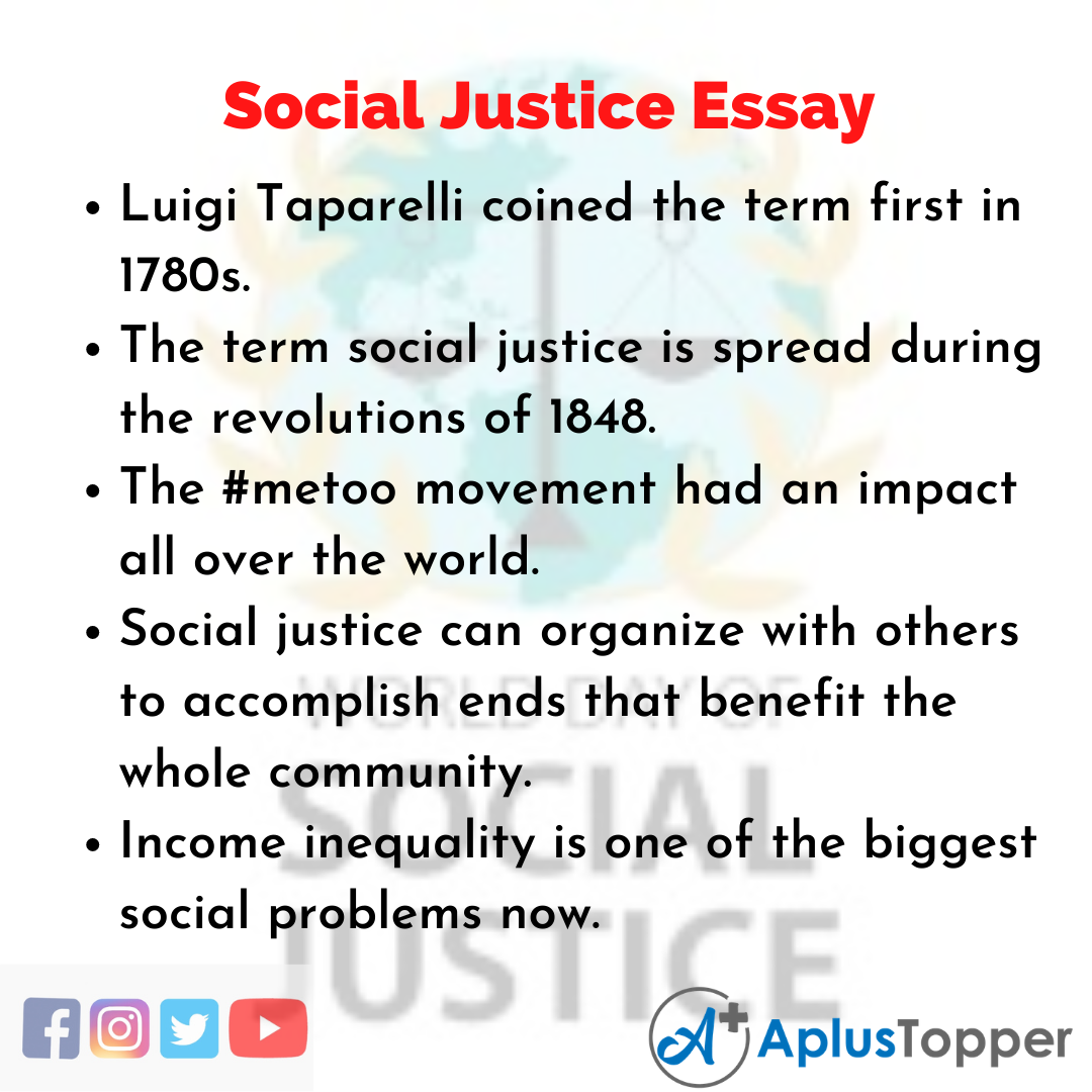 Essay about Social Justice