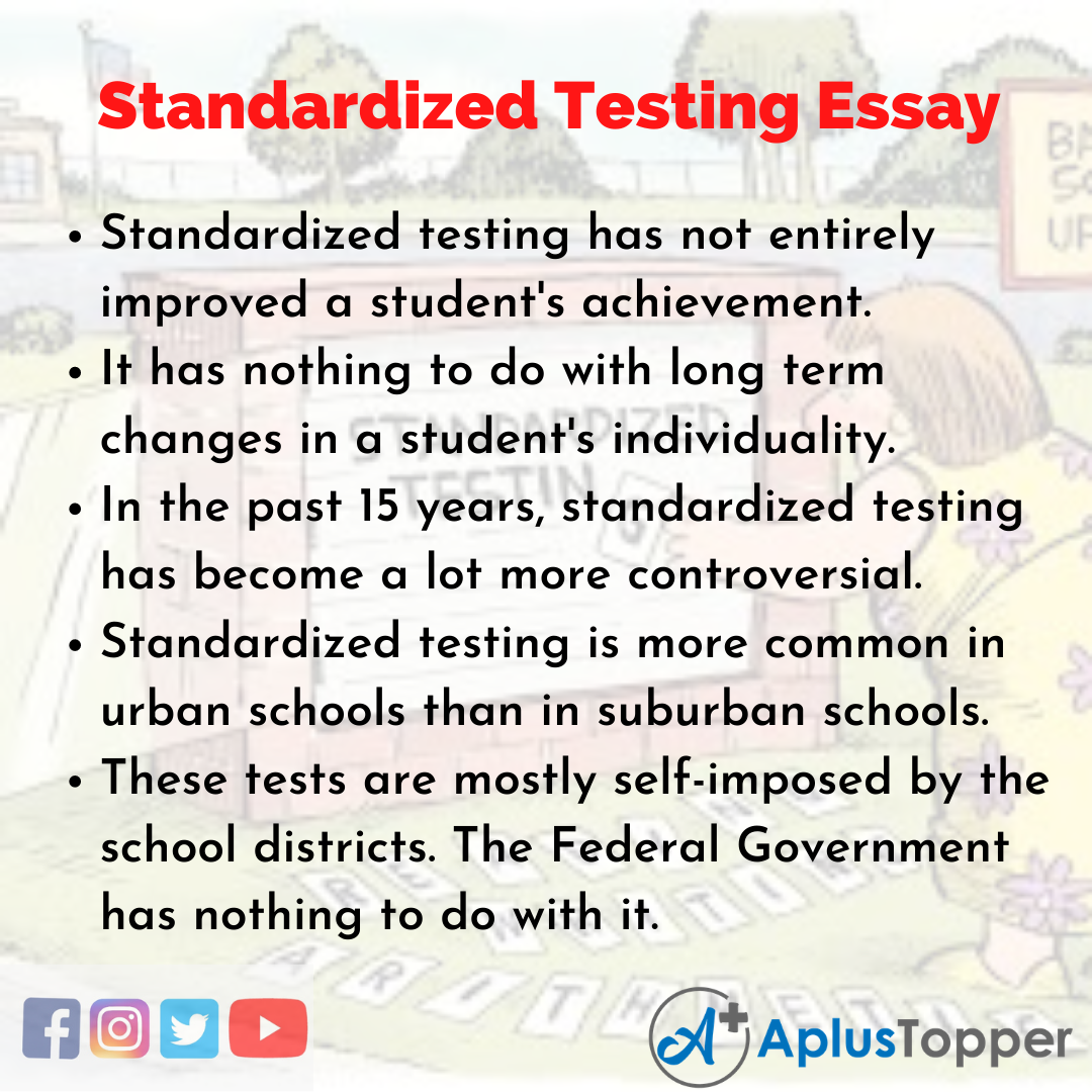 Essay about Standardized Testing