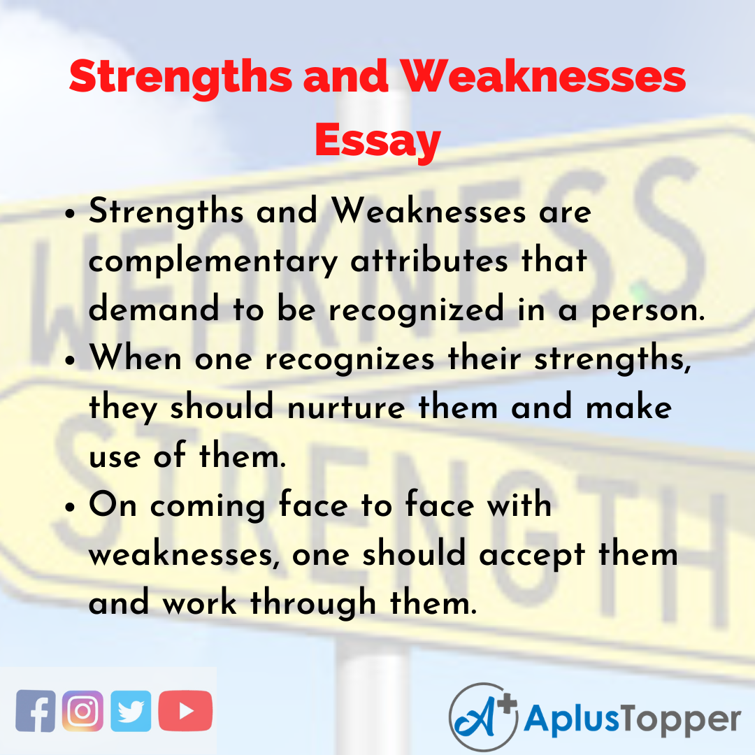 Essay about Strengths and Weaknesses