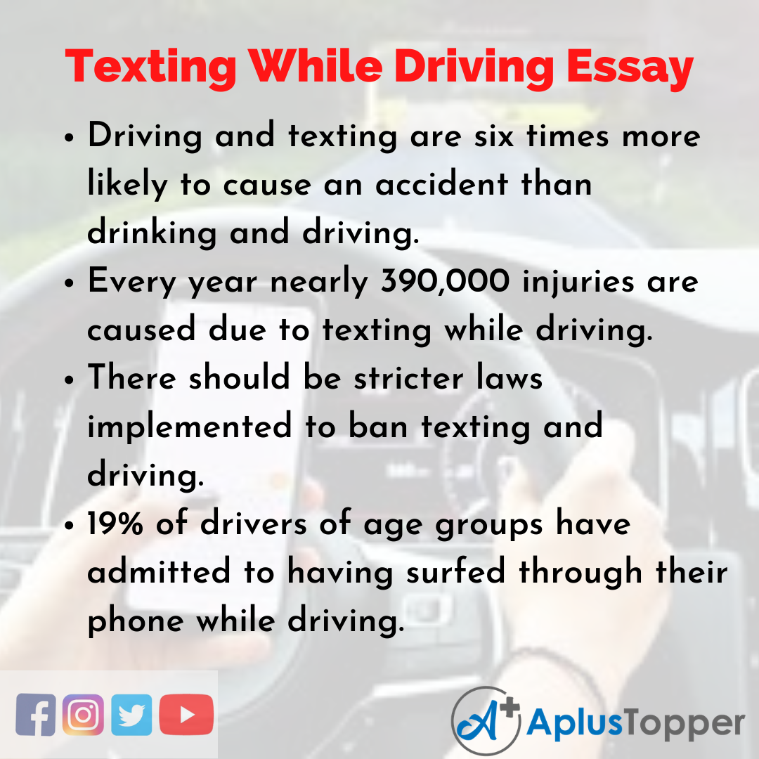 Essay about Texting While Driving