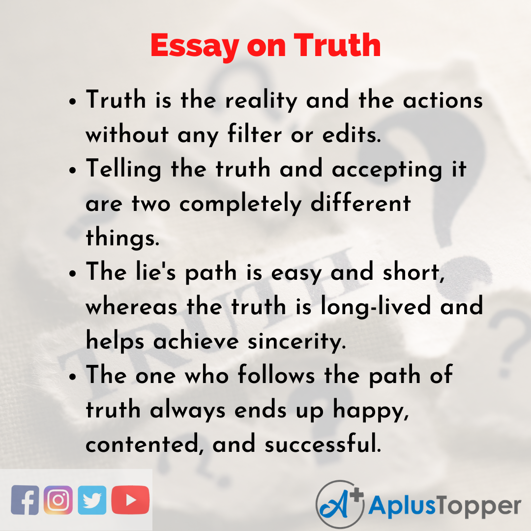 Essay about Truth