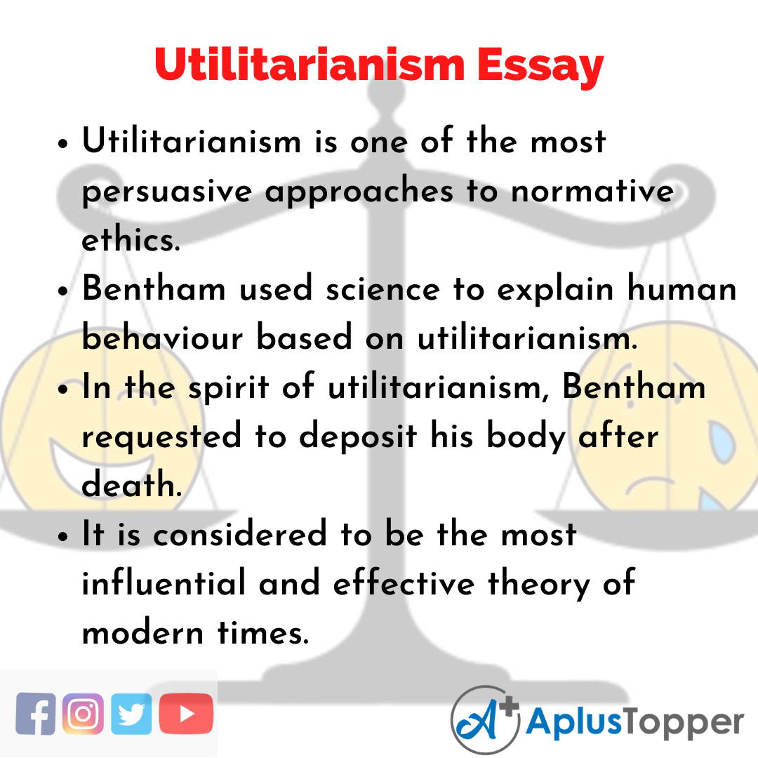 Essay about Utilitarianism