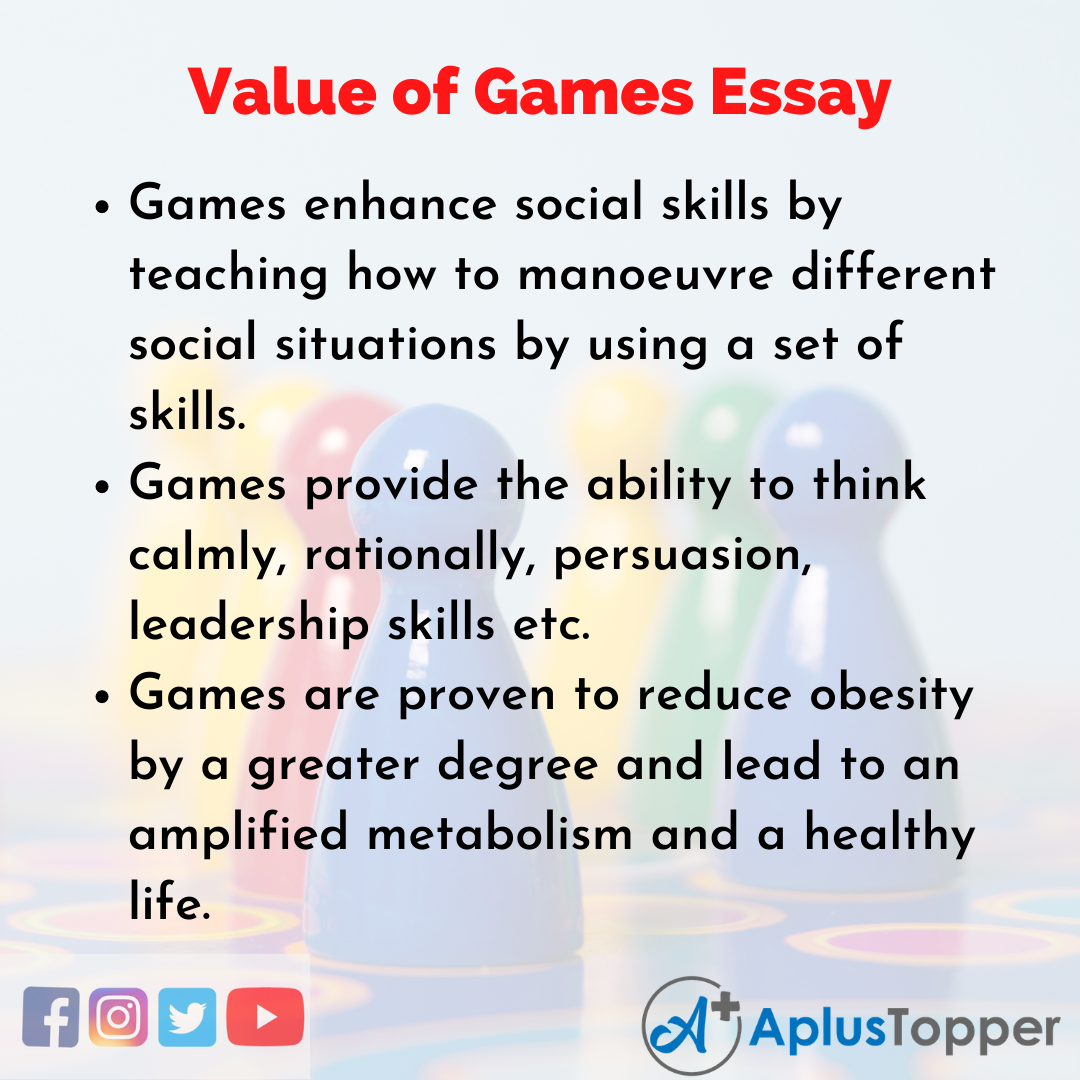 Essay about Value of Games