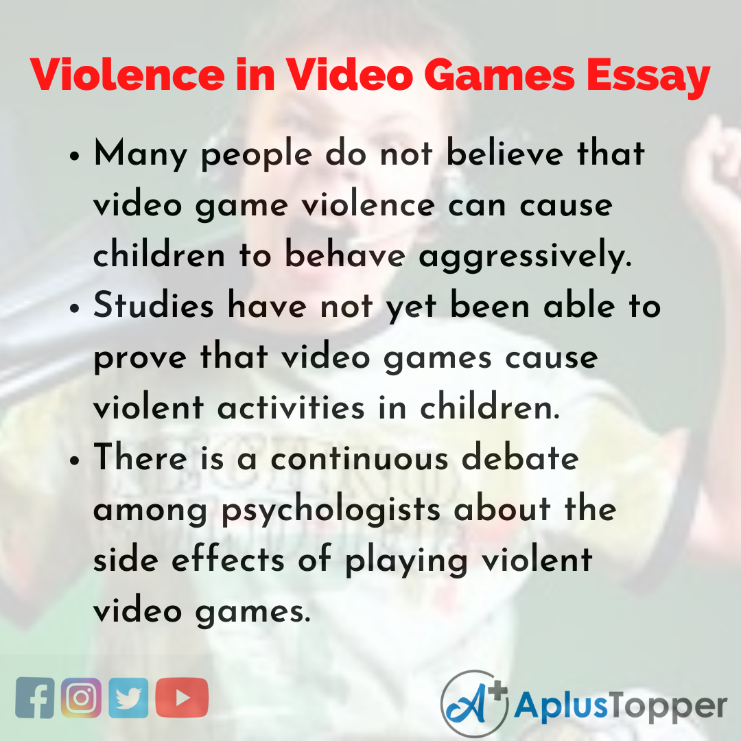 Essay about Violence in Video Games