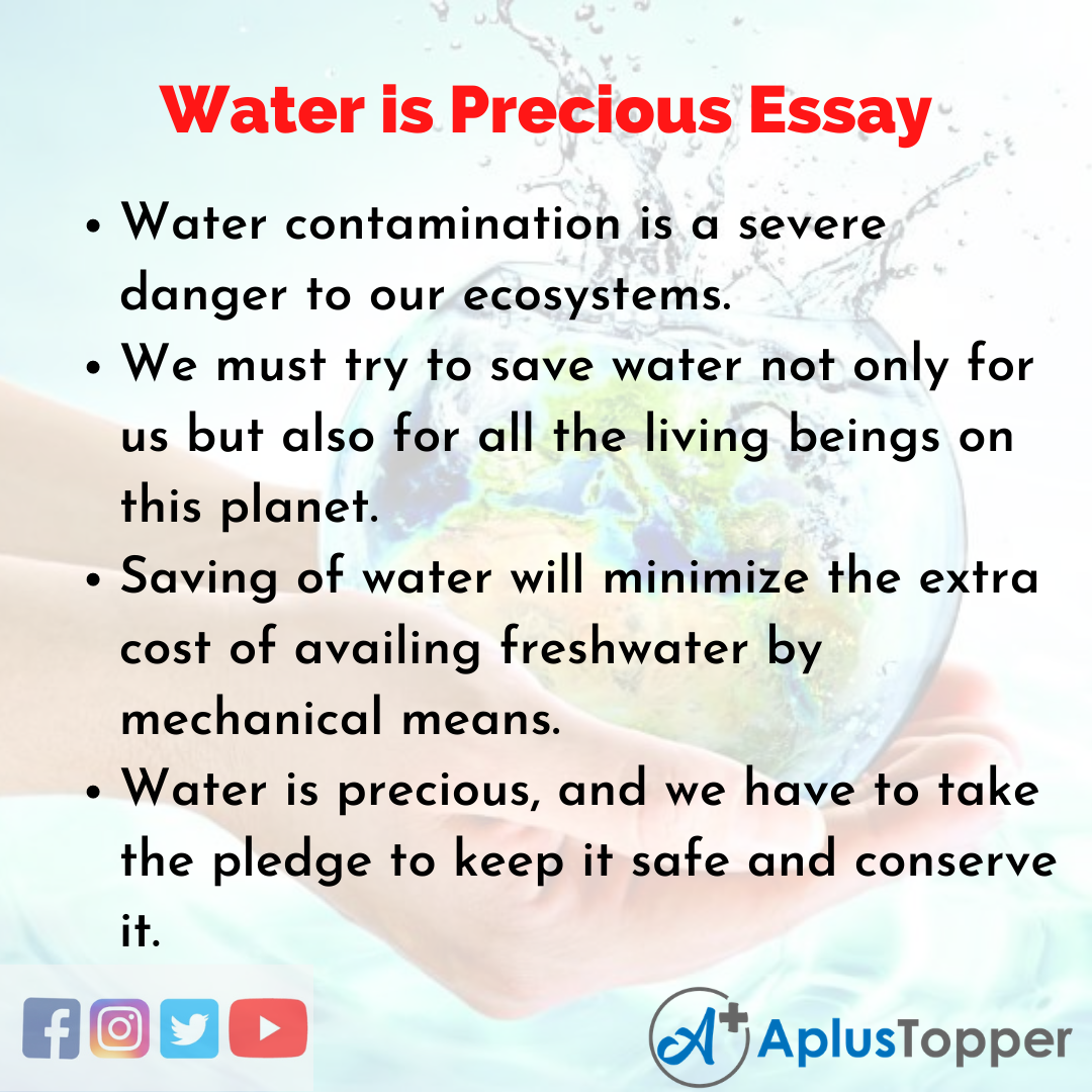 Essay about Water is Precious