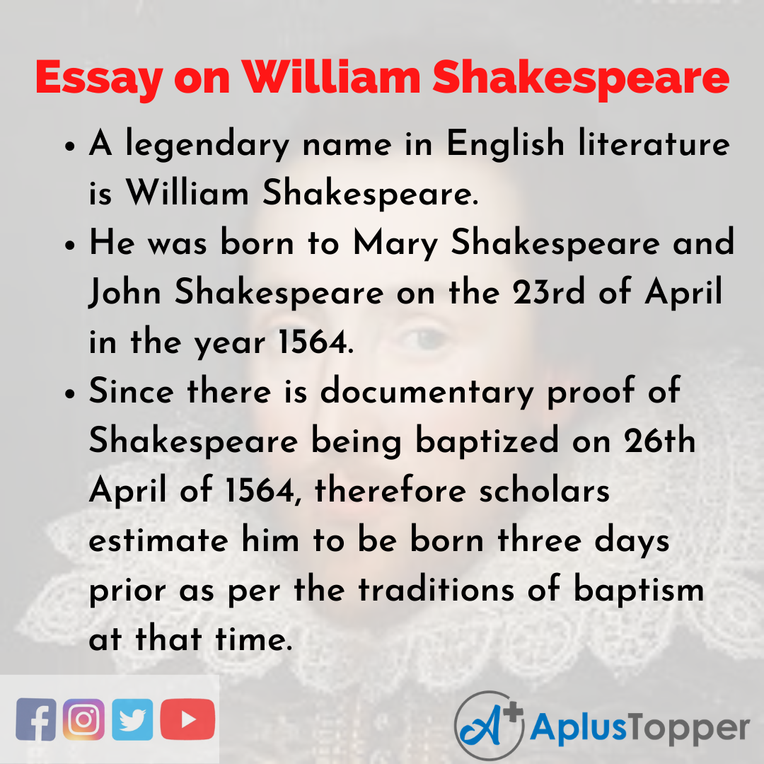 Essay about William Shakespeare