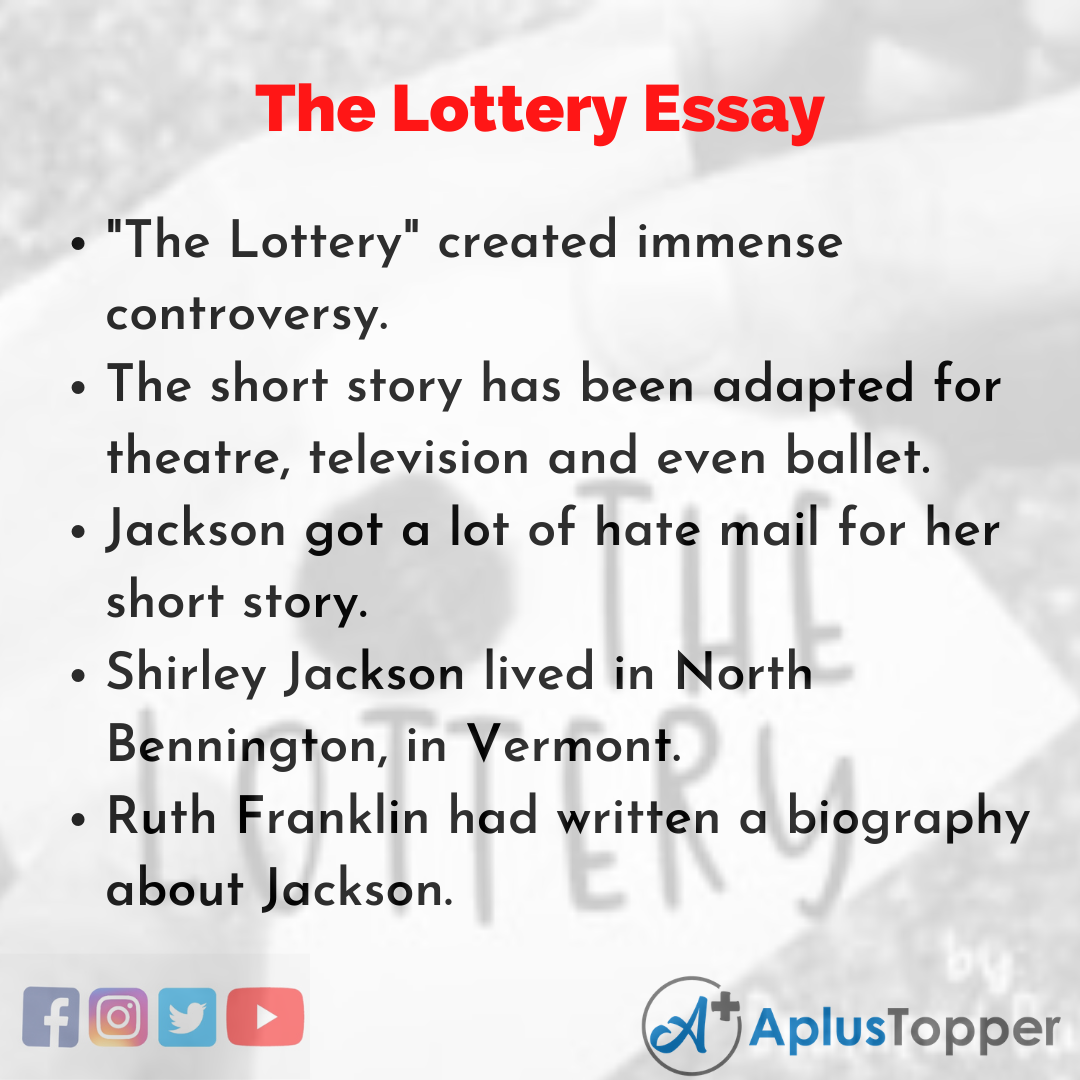 Essay about the Lottery