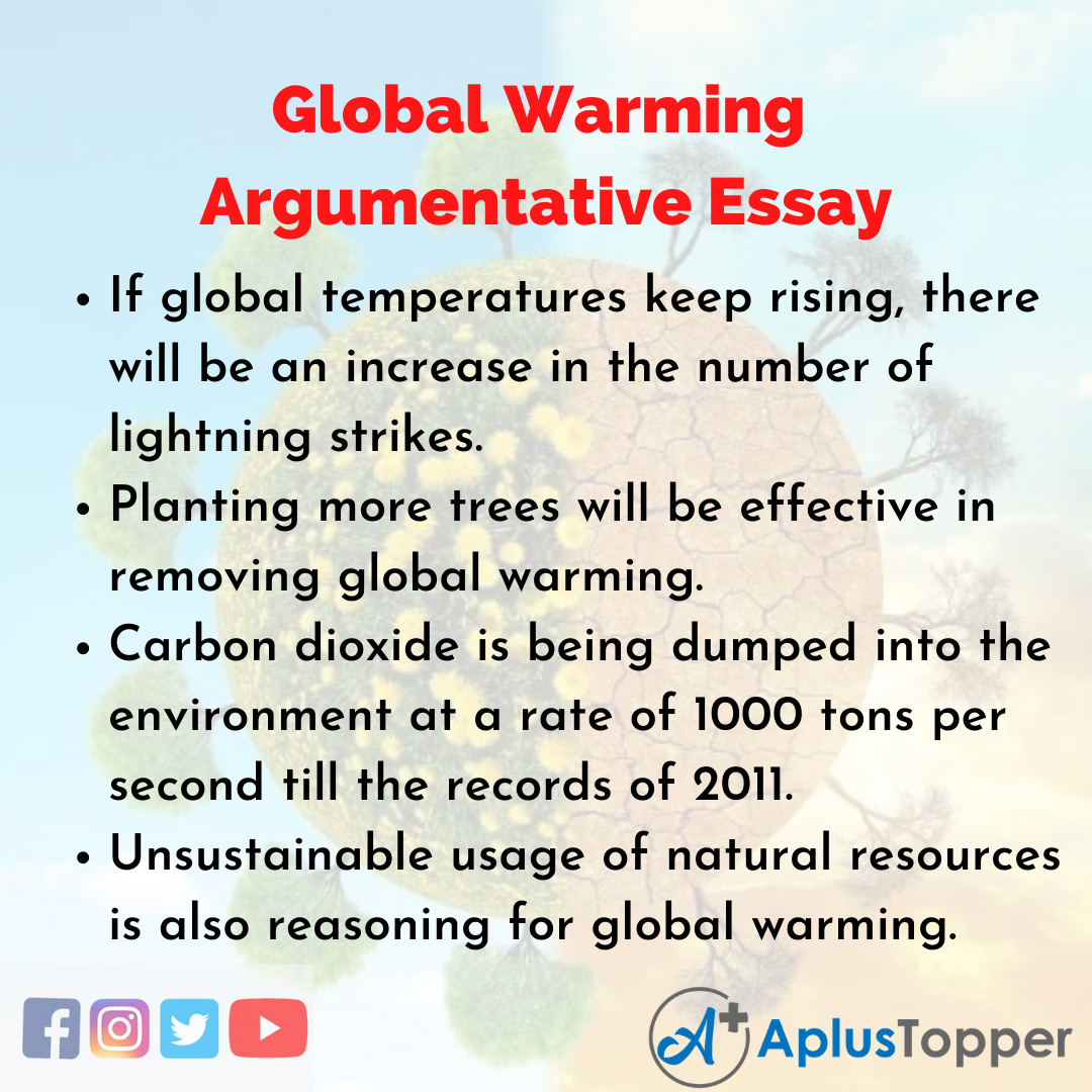Essay for Global Warming Argumentative