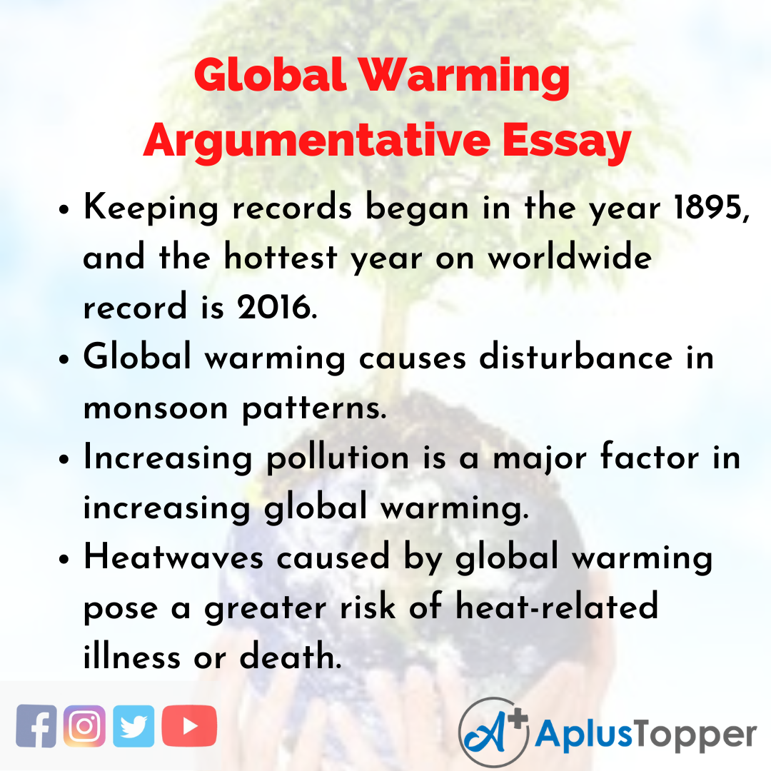 Essay of Global Warming Argumentative