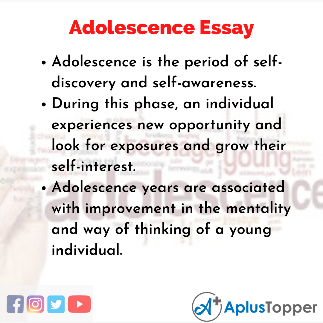Essay on Adolescence