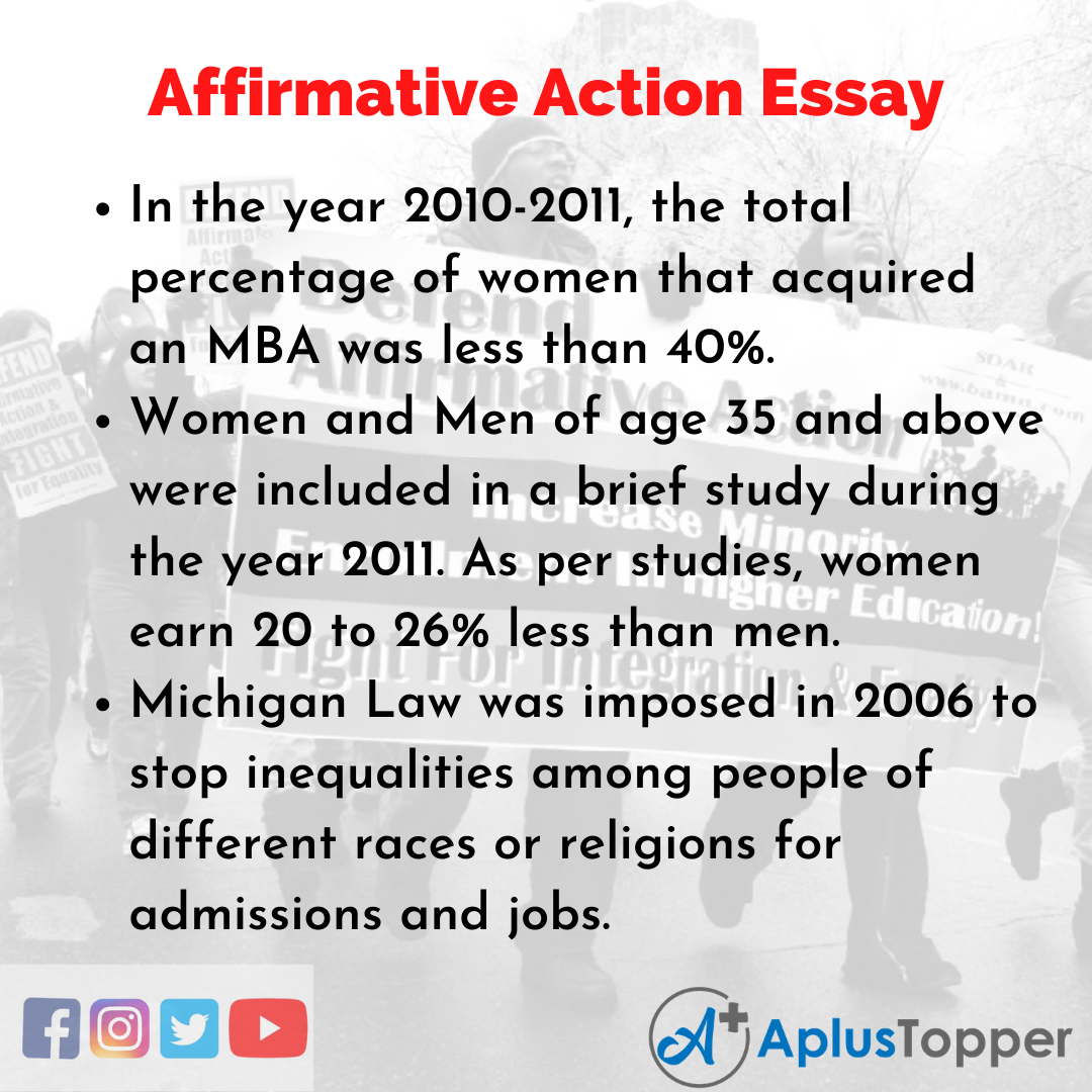 Essay on Affirmative Action