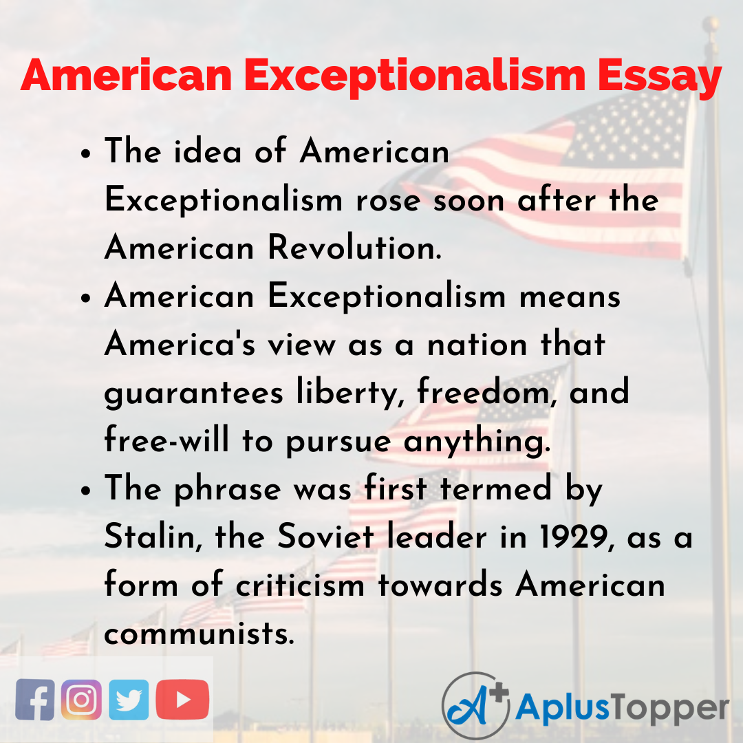 Essay on American Exceptionalism