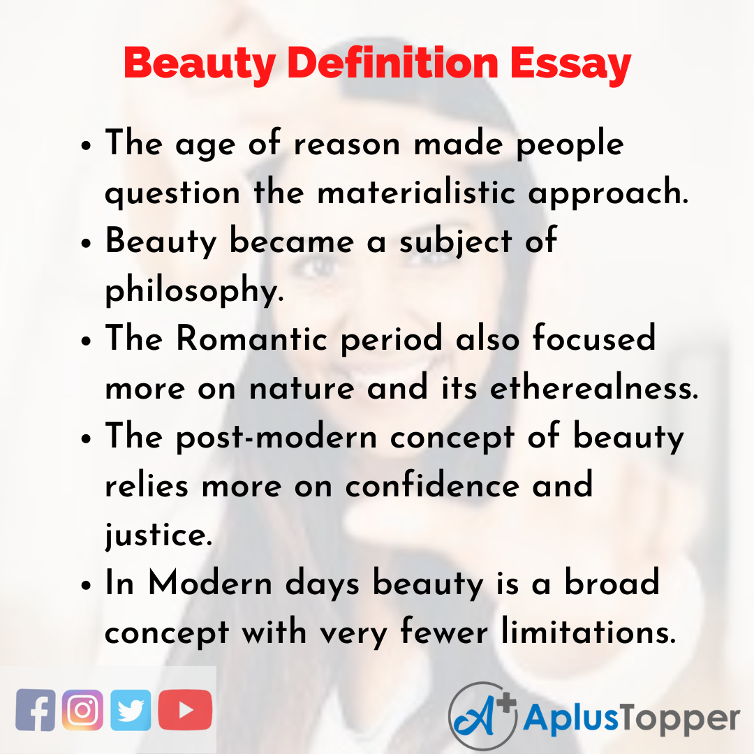 Essay on Beauty Definition