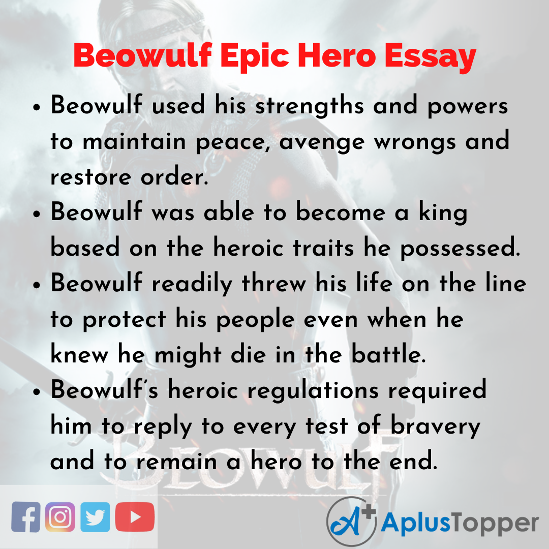 Essay on Beowulf Epic Hero
