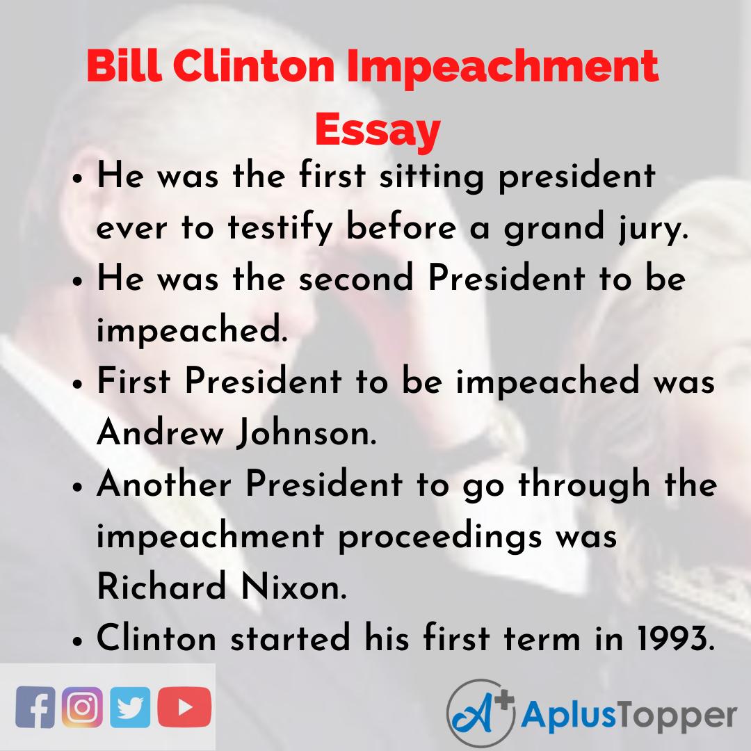 Essay on Bill Clinton Impeachment
