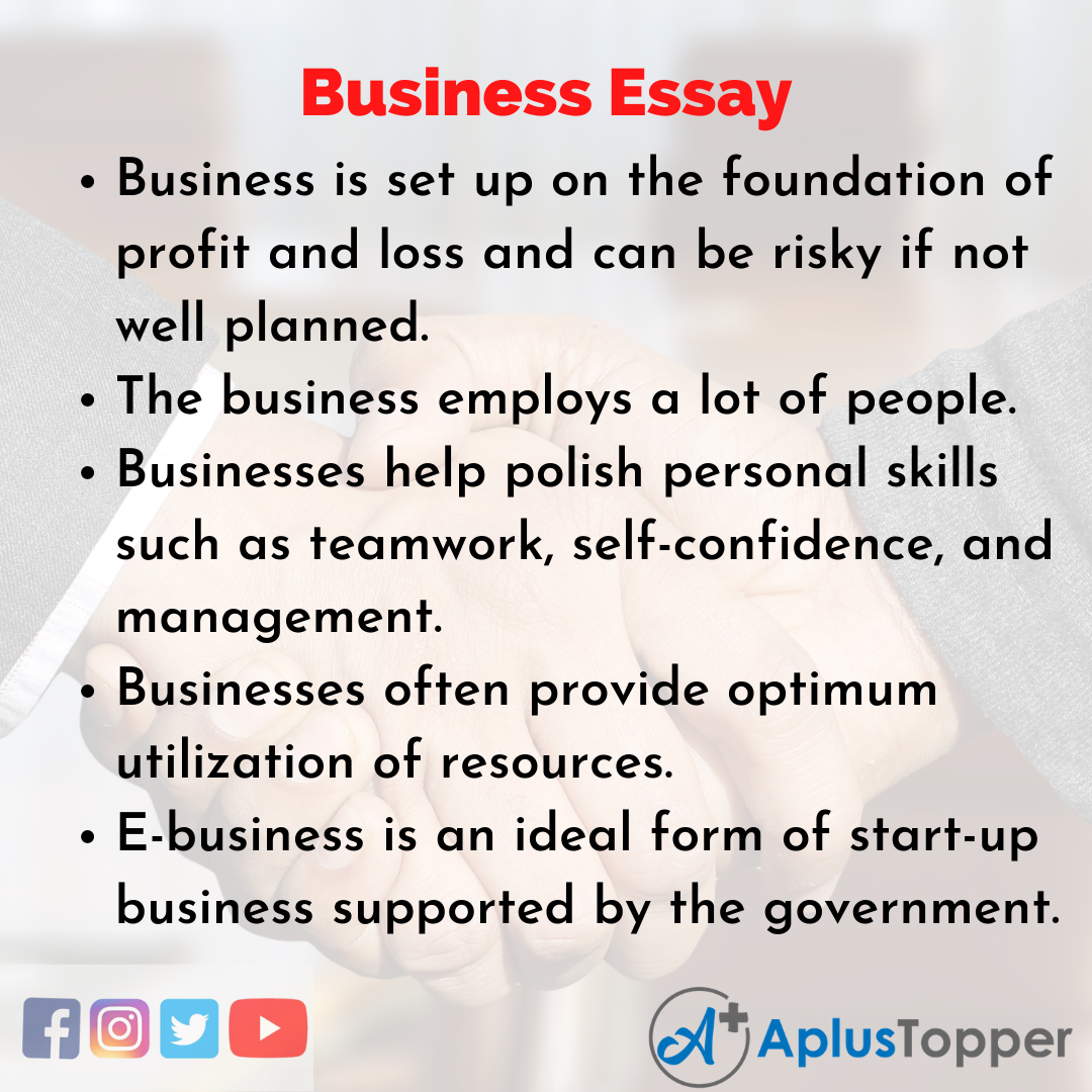 Essay on Business