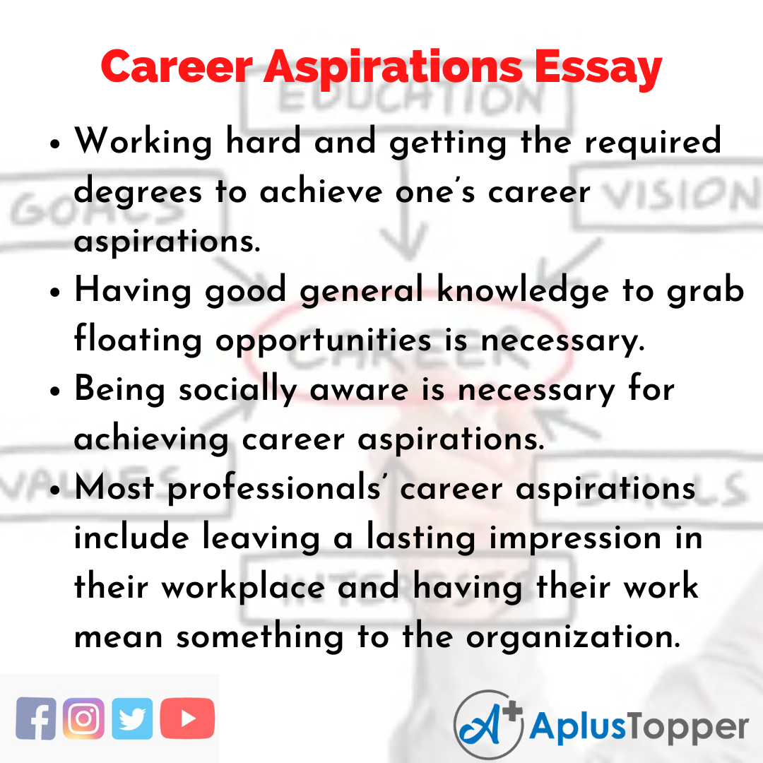 Essay on Career Aspirations