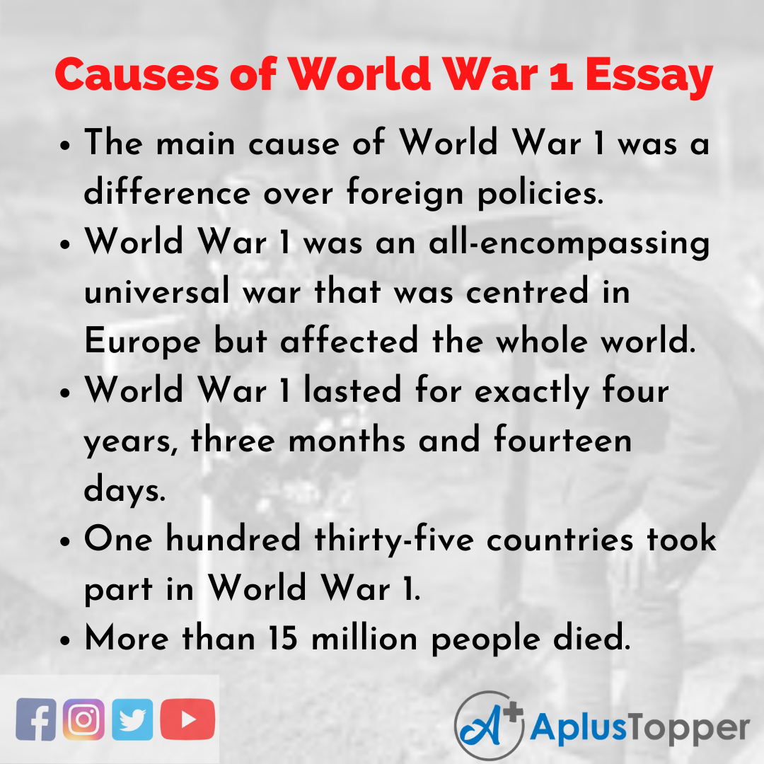 Essay on Causes of World War 1