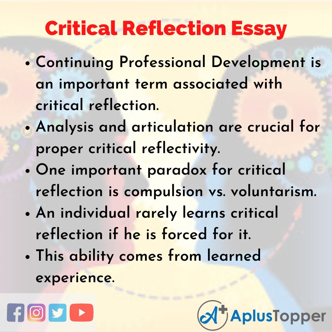 Essay on Critical Reflection