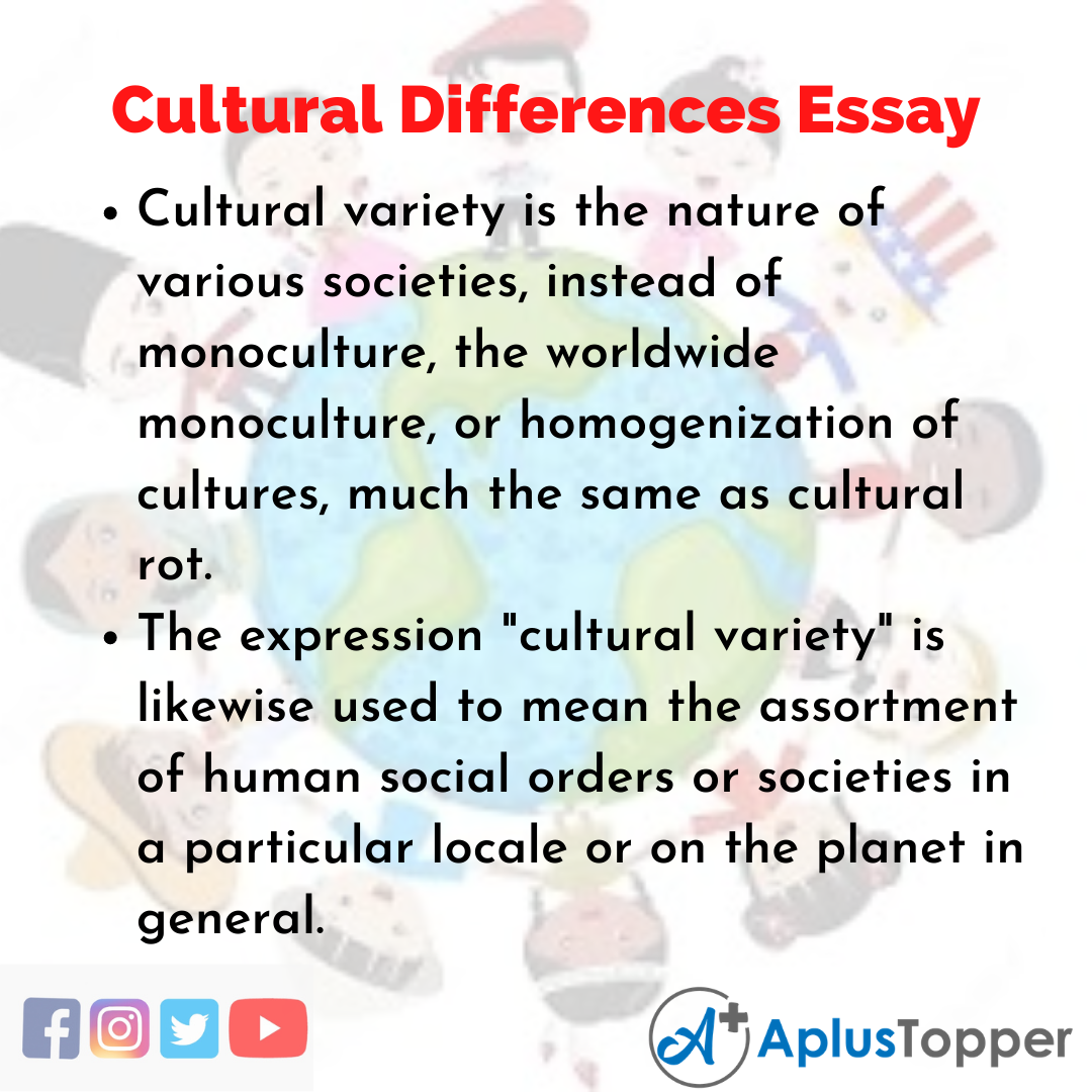 Essay on Cultural Differences