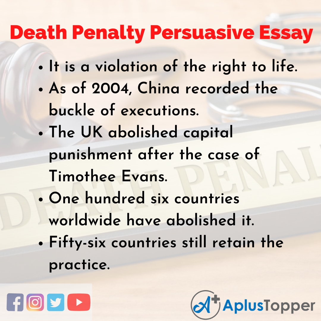 Essay on Death Penalty Persuasive