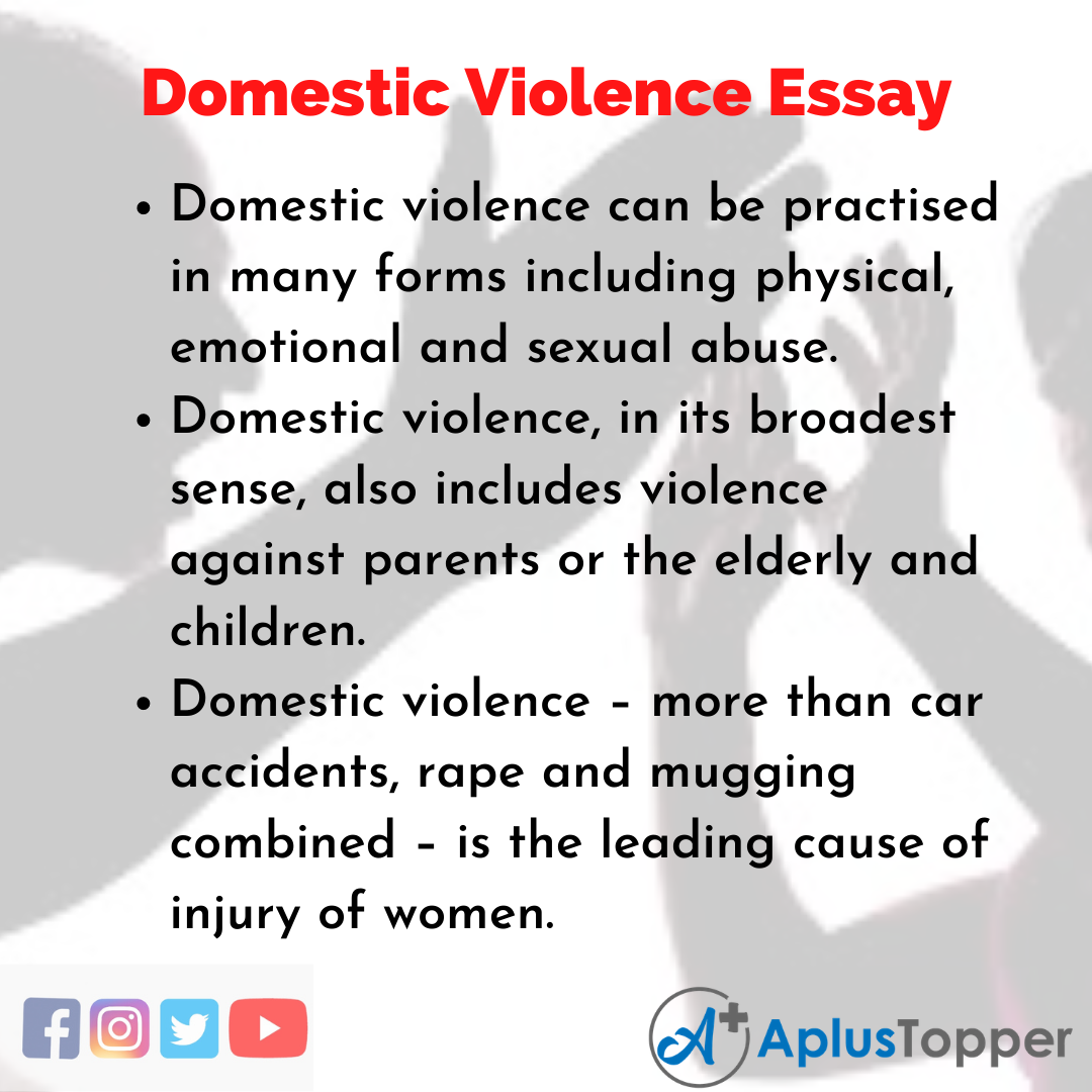 Essay on Domestic Violence