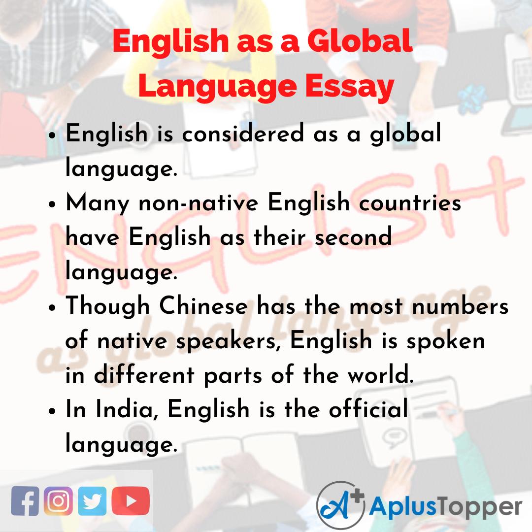 Essay on English as a Global Language