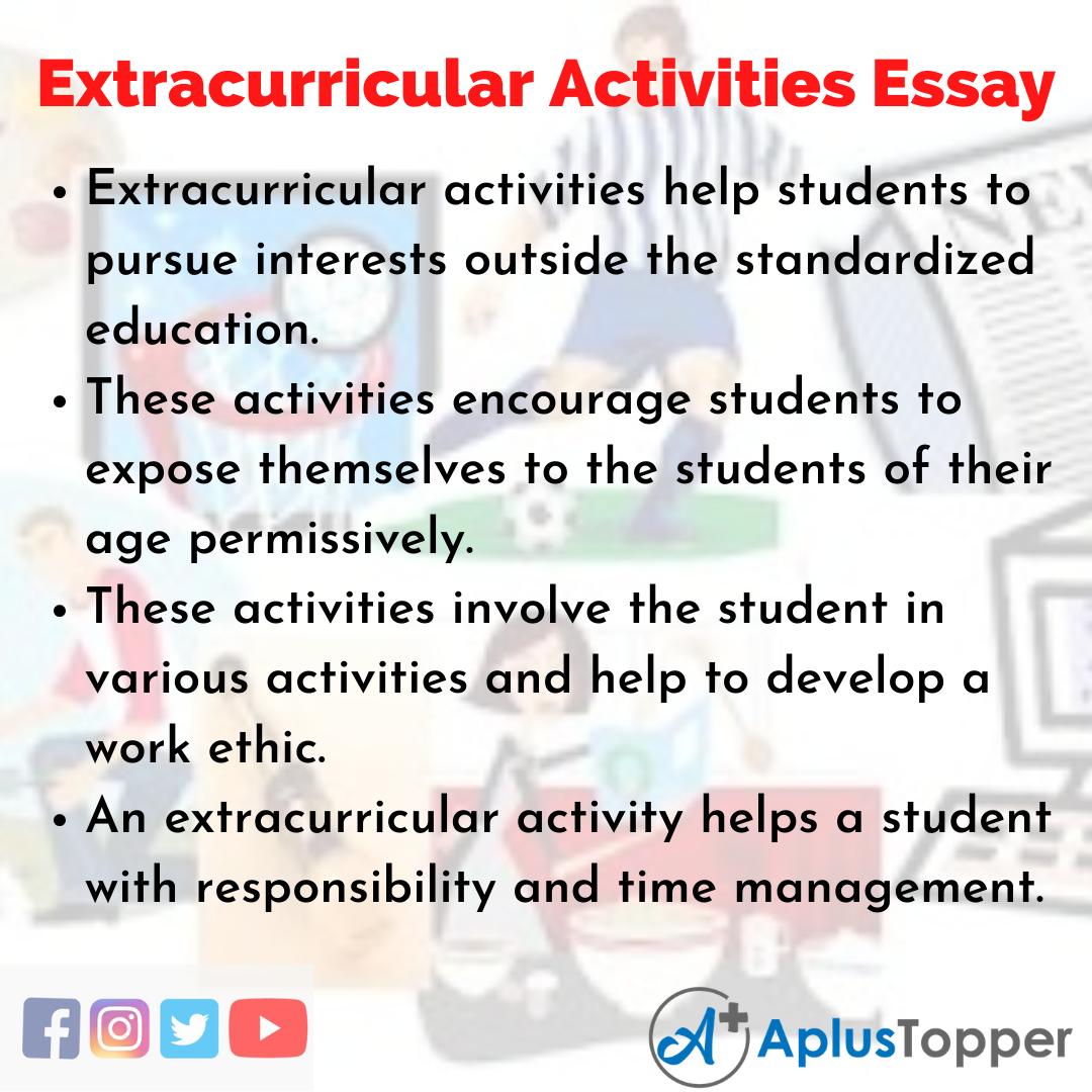 Essay on Extracurricular Activities