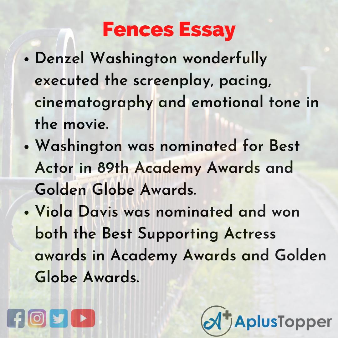 Essay on Fences