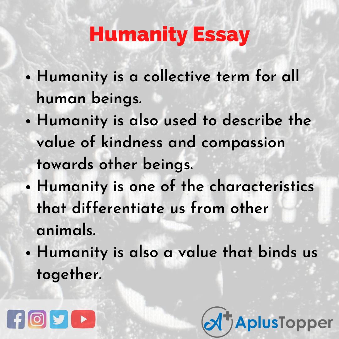 Essay on Humanity