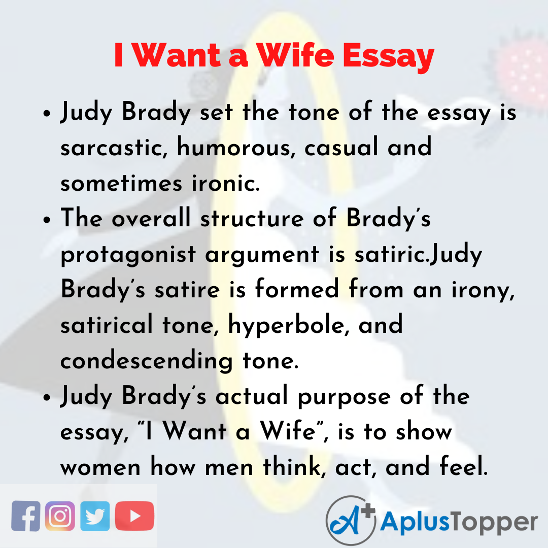 Essay on I Want a Wife