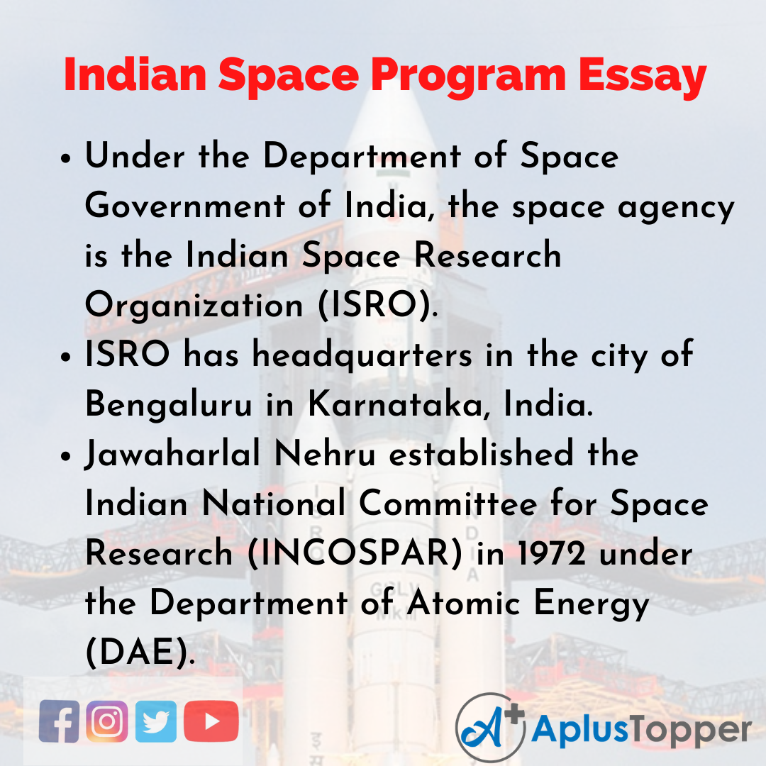 Essay on Indian Space Program